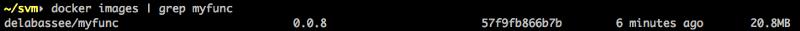 docker images |size