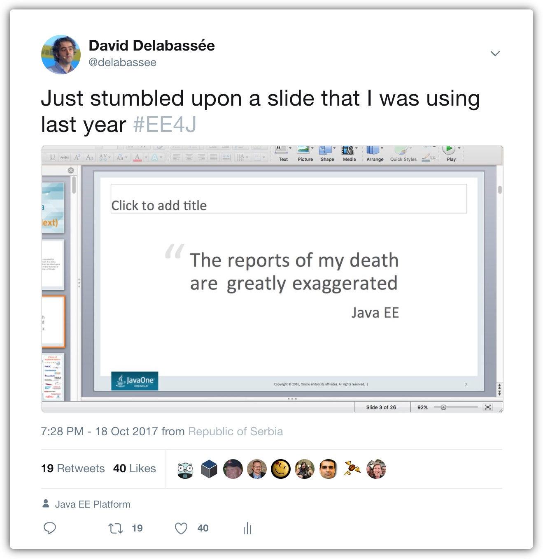 Java EE is not dead